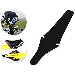 DSstyles Bicicleta guardabarros plegable Saddle Flap Fender para MTB Mountain Road Bike - Negro