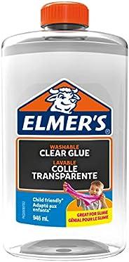 Elmer's Klart PVA-lim | 946 ml | Tvättbar och barnvänlig | Perfekt för att göra slem och hant