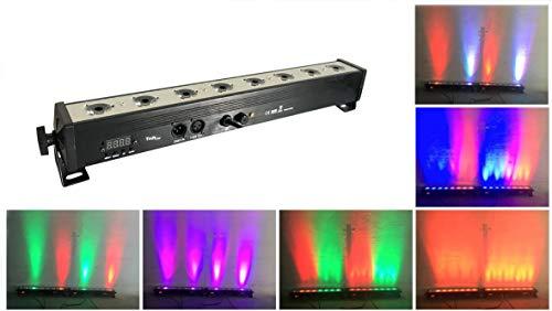 Par LED par bar bühne licht,TOM 8pcsx3w wall washer RGB 3-in-1 führte und vollen aluminium - haus der 7. dmx512 für disco/partei/theater (RGB)