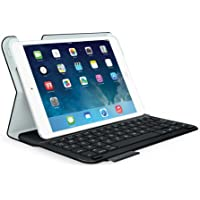 Logitech Ultrathin - teclados para móviles (Negro, Color blanco, cuero PU, Apple, iPad mini, iOS, Batería)