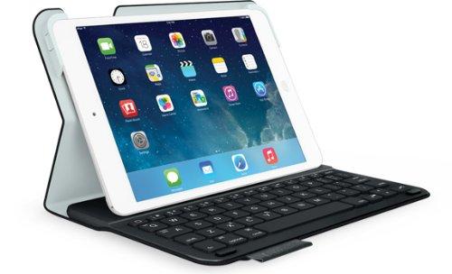 Logitech Ultrathin - teclados para móviles (Negro, Color blanco, cuero PU, Apple, iPad mini, iOS, Batería)
