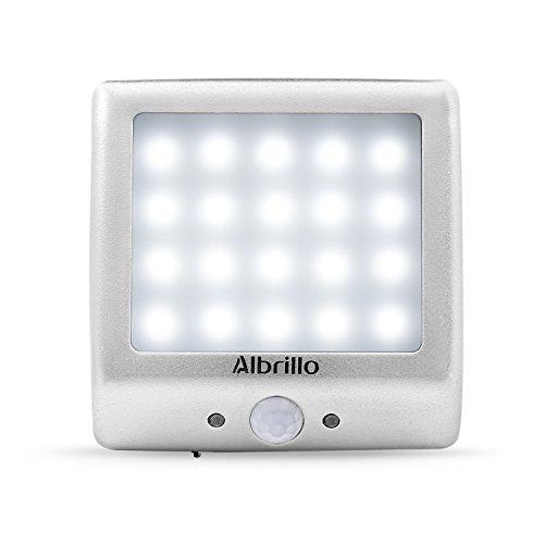 Albrillo Wiederaufladbare LED Schrankbeleuchtung Schranklicht Kabellos 20 LEDs 1200 mAh eingebauter...