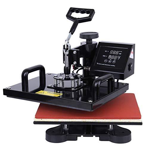 Ridgeyard Upgraded Multifunktions 5 in 1 Heißpresse/Hitzepresse/Transferpresse Überführungsmaschine Mug Hat Plate Swing Maschine Sublimation Transferdrucker für Platten Becher Schalen Hut T-Shirt - 2