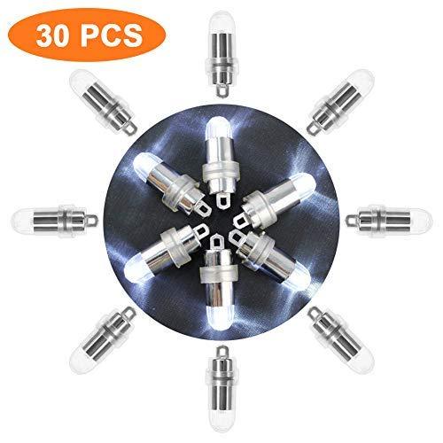 Libershine 30 piezas Mini LED Bombillas Luz Blanco cálido, sin-parpadear para Iluminación en Globos y Celebración banquete de boda de la Partido Decoración [Clase de eficiencia energética A+]
