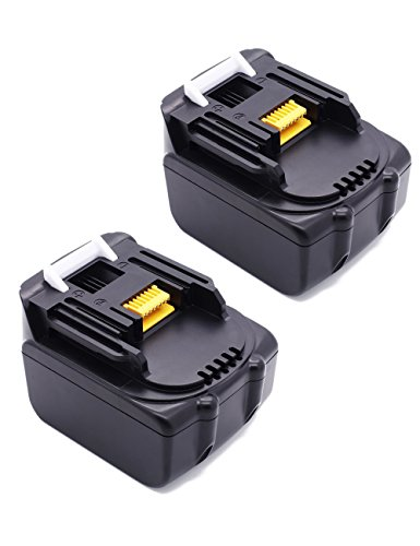 Preisvergleich Produktbild 2x Packs18V 5000mAh Lithium-Ion Werkzeugakkus 5,0Ah Ersetzen Akku für Makita BL1850 196672-8 BL1840B BL1840 BL18302 Stück 18V 5.0Ah Batterie LG Zellens)