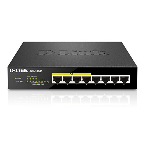 D-Link DGS-1008P - Switch 8 Puertos Gigabit Ethernet