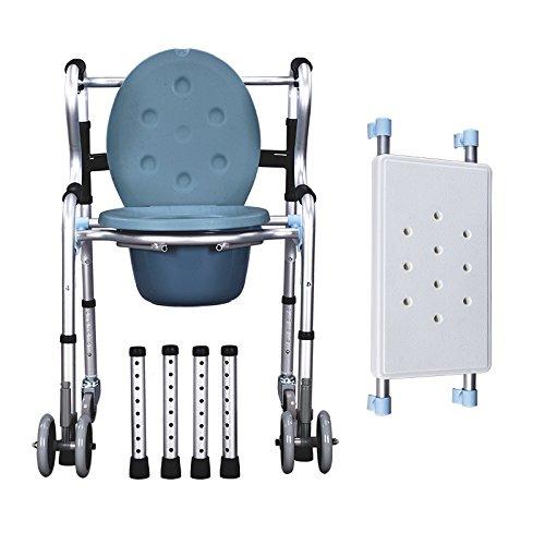 W/rotelle di alluminio doccia sedia/Comodino comò e sedile imbottito, Pail