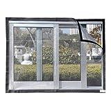 Schermo per Finestra, Autoadesivo Staccabile Rimovibile con Velcro per Finestra per la Finestra del Balcone