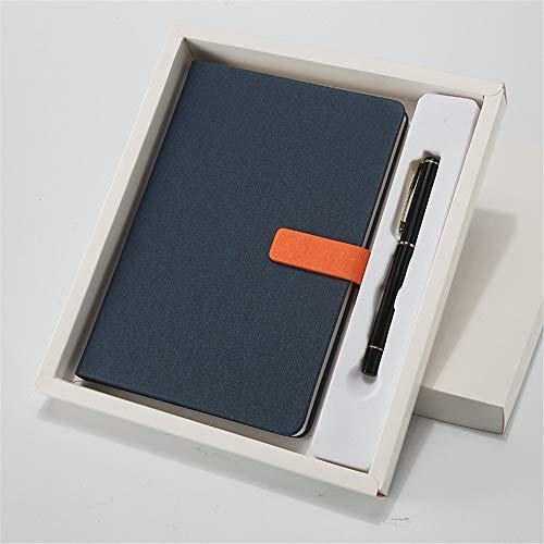 YIDYID notebookA5 Notizblock Geschenkset Business Notizbuch Kreatives Büromaterial Tagebuch Buch Student Notizbuch, marineblauer Anzug