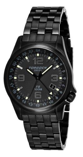 Torgoen - T05207 - Montre Homme - Quartz Analogique - Bracelet Acier Inoxydable Noir