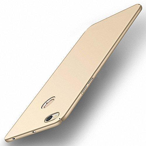 NAVT Xiaomi Redmi Note 5A Funda,Ultrafino Estructura completamente rodeada la estructura de superficie mate Durable PC Protector teléfono funda para Xiaomi Redmi Note 5A Smartphone (dorado)