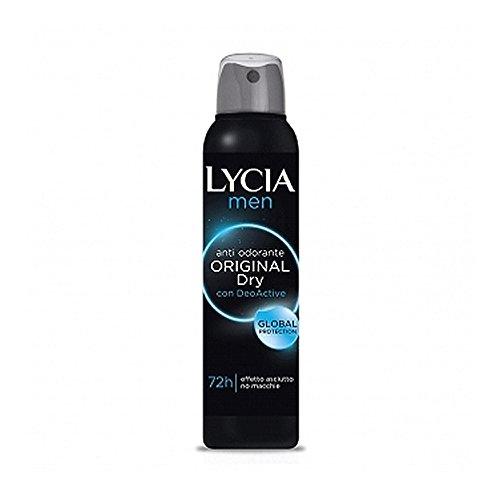 Lycia Men Original Dry Deodorante Spray Gas 72h 150 Milliliter