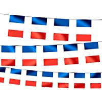 Ghirlanda decorativa bandiera Francia (00/1017) 14 x 21 cm decorazione bar ristorante festa estate calcio coppa europei mondiali blu bianco rosso France francese tifosi ultras compleanno