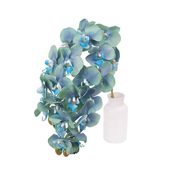 N&T NIETING Orchild artificial de orquídea Phalaenopsis, 2 piezas, simulación de tacto real con tallo para bodas…
