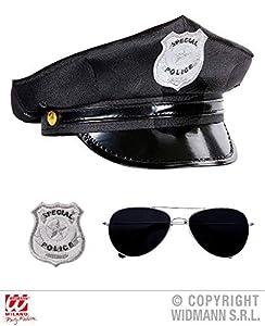 WIDMANN wdm95719?Juego Policía, Negro, ONE SIZE