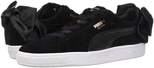 PUMA Women s Suede Bow Wn Sneaker  Black Black  10 M US