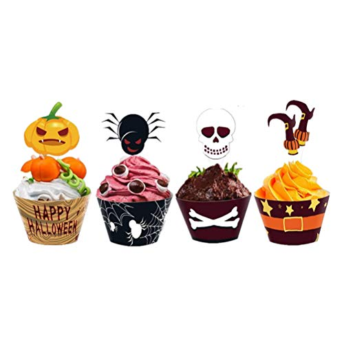 ema Cupcake Dekoration Cartoon Dessert Wraps Cupcake Wrapper Kuchendeckel Party Supplies 24 STK ()