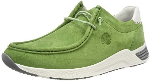 Sioux Damen Grash-d191-57 Sneaker, Grün (Apple 007), 38 EU (5 UK) - Nubuk Leder Keil