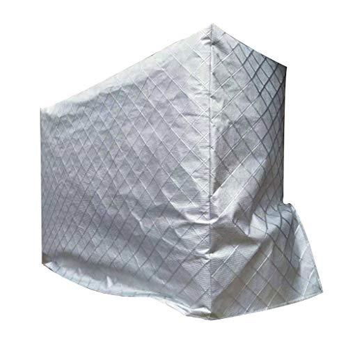 WMY888 Staubabdeckung Silber-Oxford-Klimaanlagenabdeckung außerhalb der Maschine Regen Sonnencreme...