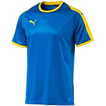 Puma Liga Jersey T-Shirt, Hombre, Electric Blue Lemonade/Yello, XL