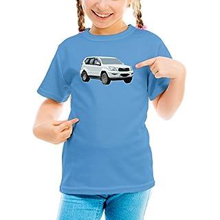 Billion Group   Japan Jeep   Fast And Furious Motor Cars   Girls Classic Crew Neck T-Shirt Blue Medium