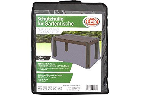 Unbekannt Schutzhülle für 170 cm Gartentische schwarz inkl. Tasche