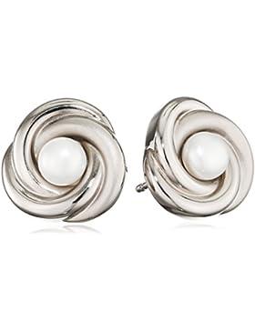 Boccia Damen-Ohrstecker Titan Perle weiß - 0590-01