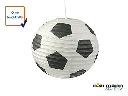 Carta lampada per cameretta bambini–paralume con picture calcio–lampada a sospensione con sospensione