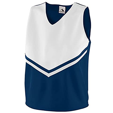 Augusta Women's Sleeveless V Neck Pride Shell - Navy/White 9110A M