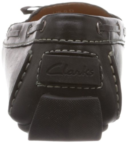 Clarks Dunbar Racer 203_Dunbar Racer Damen Espadrille Halbschuhe Schwarz (Black Leather)