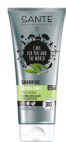 SANTE Naturkosmetik Shampoo Jojoba Care, Spendet Glanz & Elastizität, Reichhaltige Pflegerezeptur, 2x200ml Doppelpack - Natürliche Jojoba-shampoo