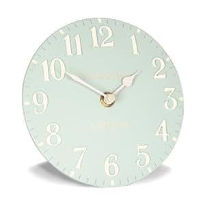Thomas Kent Horloge de cheminée/chevet Chiffres arabes Bleu dragée 15 cm