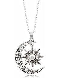 5starwarehouse Plaqué argent Soleil Lune Collier Bijoux Cadeau pour lui son  Cadeau A364 2af67f4f13d5