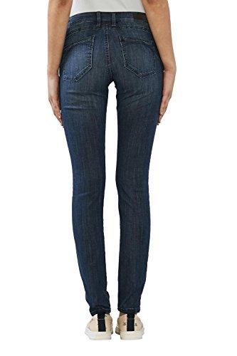 edc by Esprit, Jeans Femme Bleu (Blue Dark Wash)