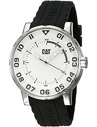 CAT Bold II Men's Watch White & Black Dial Black Silicone Strap NM14121212