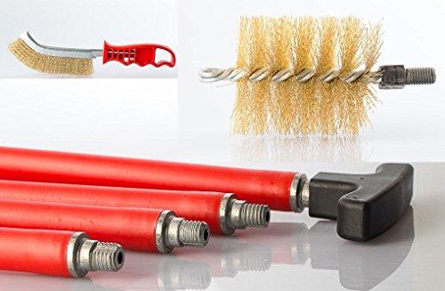 Varillas de 8//10 Taladro el/éctrico Barrido shewt Cepillo de Chimenea Kits de Herramientas de Limpieza de cepillos con Varillas Flexibles de Nylon Reforzado Limpieza de chimeneas