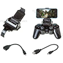 OSS-2517® Smart Gameklip Universal Phone Clip Mount - For Ps3 Pad Controller IOS & Android + OTG Cable + Video Instructions [Importación Inglesa]
