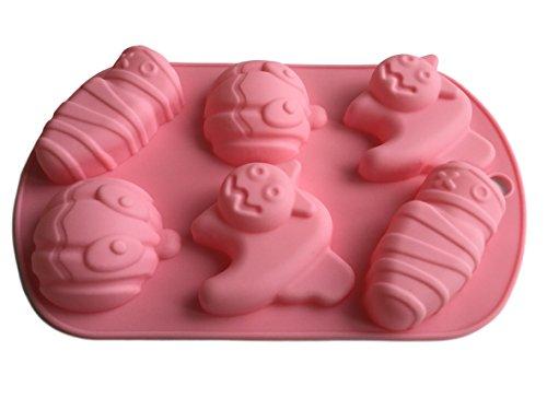 Halloween Calabaza Gato Monster silicona forma Chocolate molde para Bombones forma Cup Cake Galletas Manualidades Hornear verzieren famowesta fantasma Formas cubitos de hielo forma de Royal House Ware