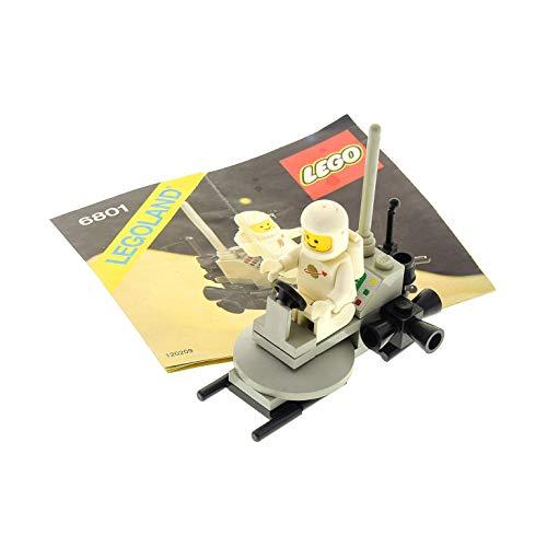 1 x Lego System Teile Set für Nr. 6801 Classic Space Moon Buggy 1 x Figur Weiss Grau Bauanleitung Incomplete unvollständig (Lego System Classic-sets)