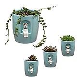 Mini vaso per piante Cactus per vasi da fiori Contenitore per giardino Patio