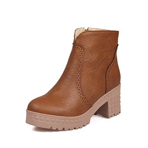agoolar-womens-pu-low-top-solid-zipper-high-heels-boots-brown-36