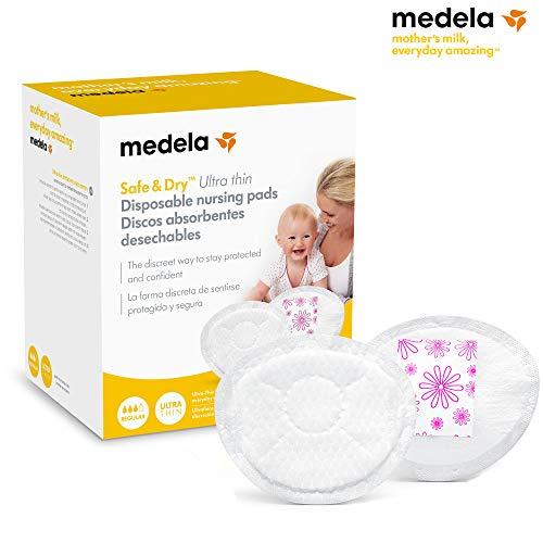 Medela Discos absorbentes desechables Safe & DryTM Ultra thin 60 unidades - Discos absorbentes desechables, 60 uds