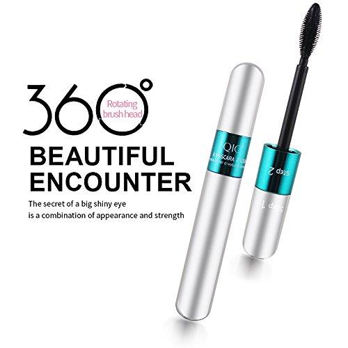 SMILEQ 3D Fiber Mascara Lange Schwarze Wimpern Wimpernverlängerung Wasserdichtes Augen Make-Up Werkzeug (1 Pcs, Schwarz 3)