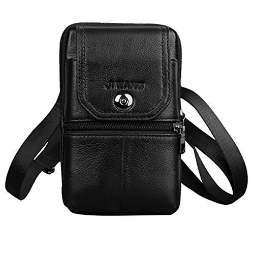 Moonuy Männer Tasche MaFashion Reißverschluss Solide Weichen Griff Farbe Leder Brieftasche Reißverschluss Geldbörse Kartenhalter Flap Handtaschen