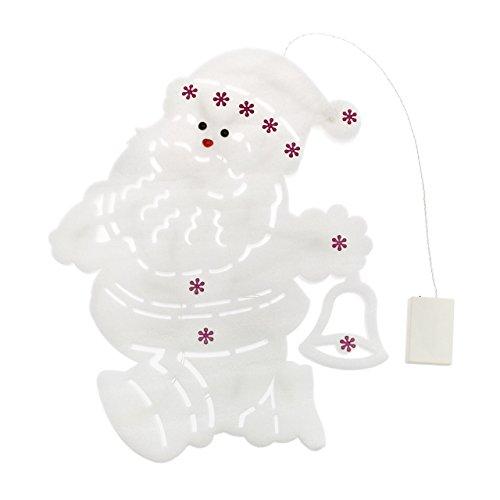 Babbo natale sponge 37 x h. 49 cm, 20 led bianco caldo, batteria