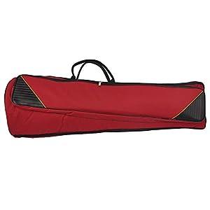Andoer® 600D Water-resistant Trombone Gig Bag Oxford Cloth Backpack Adjustable Shoulder Straps Pocket 5mm Cotton Padded for Alto/Tenor Trombone