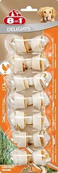8in1 Delights XS - Os à Mâcher garnis de poulet pour Chien de Petite Taille - 7 pièces