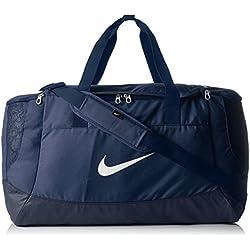 Nike Club Team Swoosh Duffel L Bolsa de Deporte, 58 cm, Liters, Azul (Dunkelblau)