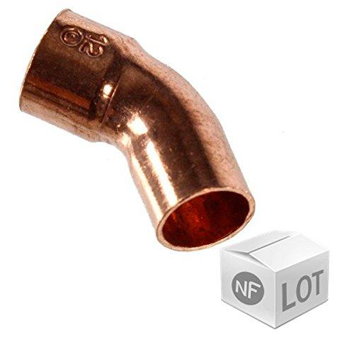Raccord cuivre courbe 45° M.F (C40) - Diamètre 16 mm
