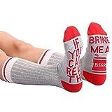 MAXMODA Damen Socken aus Baumwolle mit Schrifte, Lustiges Geschenk zum Valentinstag, Weihnachten, Geburtstag für Frauen - 3